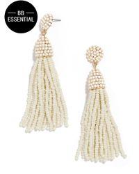 BaubleBar | White Piñata Tassel Earrings | Lyst