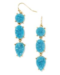 BaubleBar - Blue Mieko Druzy Drops-metallic Turquoise - Lyst