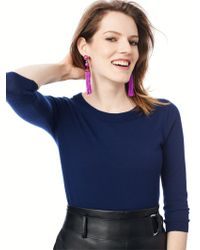 BaubleBar | Purple Artemis Tassel Earrings | Lyst