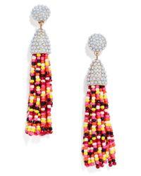 BaubleBar - Multicolor Piñata Tassel Earrings-maroon/yellow/multi - Lyst