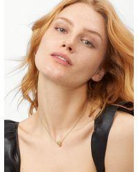 BaubleBar - Metallic Crystal Skull Necklace - Lyst