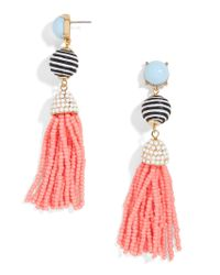 BaubleBar - Pink Catalina Tassel Earrings - Lyst