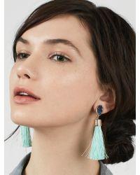 BaubleBar | Black Hebe Tassel Earrings | Lyst