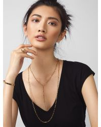 BaubleBar - Metallic Link Layered Necklace - Lyst