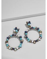 BaubleBar - Multicolor Bellflower Hoop Earrings - Lyst