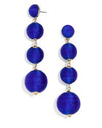 BaubleBar - Blue Criselda Ball Drop Earrings - Lyst