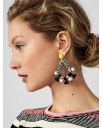 BaubleBar - Metallic Coral Reef Hoop Earrings - Lyst
