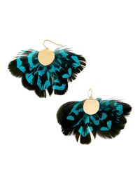 BaubleBar - Multicolor Monarch Feather Earrings - Lyst