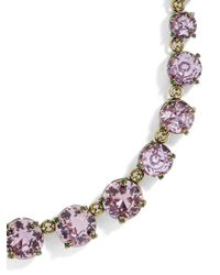 BaubleBar - Gray Camryn Glass Statement Necklace - Lyst