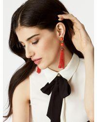 BaubleBar - Red Artemis Tassel Earrings - Lyst