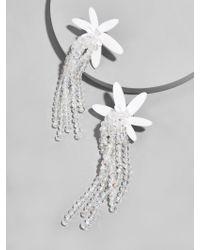 BaubleBar - White Lily Drop Earrings - Lyst