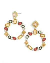 BaubleBar - Multicolor Leora Hoop Earrings - Lyst