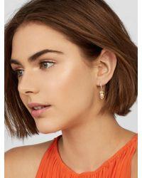 BaubleBar - Multicolor Ananas 18k Gold Plated Huggie Hoop Earrings - Lyst