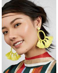 BaubleBar - Yellow Corsica Tassel Earrings - Lyst