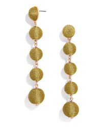 BaubleBar - Metallic Eva Ball Drop Earrings - Lyst