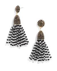 BaubleBar - Black Mini Gem Piñata Tassel Earrings - Lyst