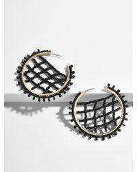 BaubleBar - Black Marquise Hoop Earrings - Lyst