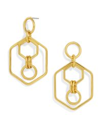 BaubleBar - Metallic Stephania Hoop Earrings - Lyst