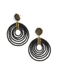BaubleBar - Black Clover Hoop Earrings - Lyst