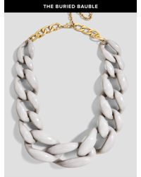 BaubleBar | Gray Linked Up Statement Necklace | Lyst