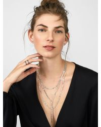 BaubleBar - Metallic Amber Layered Y-chain Necklace - Lyst