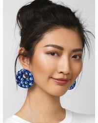 BaubleBar - Black Macaria Hoop Earrings - Lyst