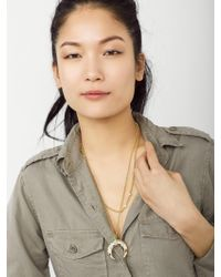 BaubleBar - Metallic Empire Pendant - Lyst