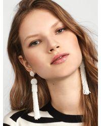 BaubleBar - White Mariachi Tassel Earrings - Lyst