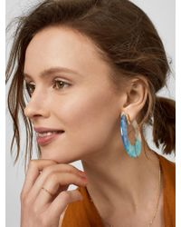 BaubleBar - Blue Dessa Resin Hoop Earrings - Lyst