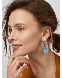 BaubleBar - Pink Dessa Resin Hoop Earrings - Lyst