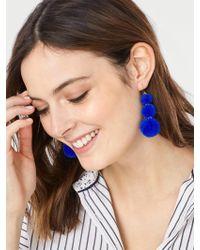 BaubleBar | Blue Pom Pom Crispin Ball Drop Earrings | Lyst