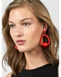 BaubleBar - Red Mariela Hoop Earrings - Lyst