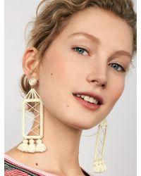 BaubleBar - White Markita Drop Earrings - Lyst