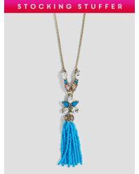 BaubleBar - Multicolor Margarida Tassel Necklace - Lyst