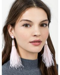 BaubleBar - Multicolor Chateau Feather Earrings - Lyst