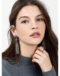 BaubleBar - Gray Tinsley Tassel Earrings - Lyst