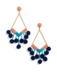 BaubleBar - Blue Solange Pom Pom Earrings - Lyst