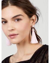 BaubleBar - Multicolor Rosabella Tassel Earrings-blush - Lyst