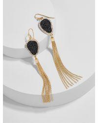 BaubleBar | Black Starfire Druzy Tassel Earrings | Lyst