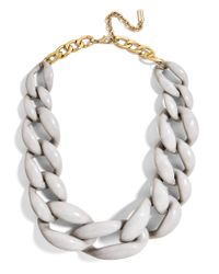 BaubleBar - Gray Linked Up Statement Necklace - Lyst