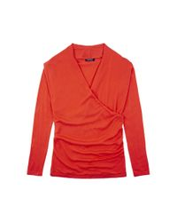 Baukjen - Red Callington Wrap Jumper - Lyst
