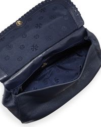 Tory Burch - Blue Marion Leather Saddle Bag - Lyst