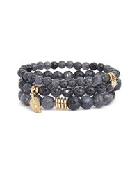Sequin | Gray 'color Karma' Bead Stretch Bracelet | Lyst