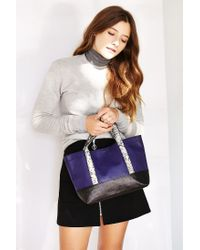 Urban Outfitters | Purple Uo Leather Colorblock Mini Tote | Lyst