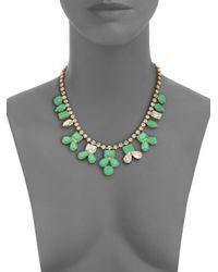 kate spade new york - Green Secret Garden Pendant Necklace - Lyst