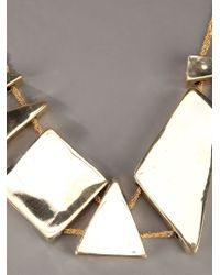Arielle De Pinto - Metallic Decollete Shard Necklace - Lyst