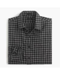 J.Crew | Black Slim Brushed Twill Shirt In Double Windowpane for Men | Lyst