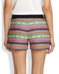 MILLY - Multicolor Woven Striped Shorts - Lyst