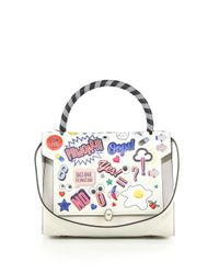 Anya Hindmarch - Multicolor Bathurst Leather Sticker Satchel - Lyst