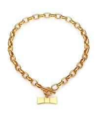 kate spade new york - Metallic Hummingbird Bow Charm Necklace - Lyst